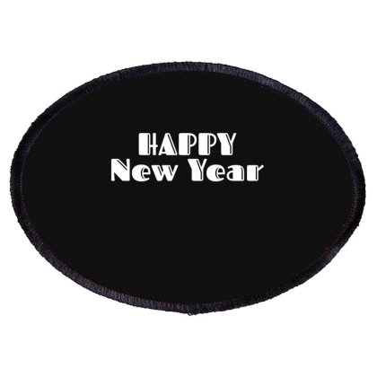 Happy New Year Oval Patch Designed By Fahmifutri