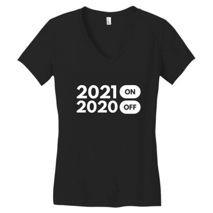 2021 On Women's V-neck T-shirt Designed By Fahmifutri
