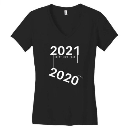 2021 Happy New Year Women's V-neck T-shirt Designed By Fahmifutri
