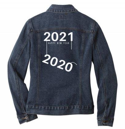 2021 Happy New Year Ladies Denim Jacket Designed By Fahmifutri
