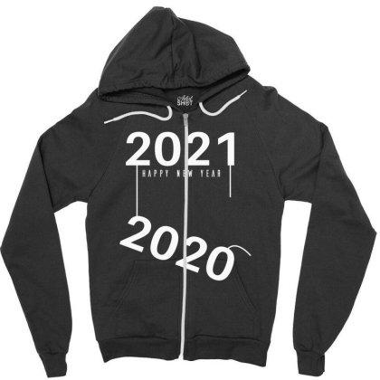2021 Happy New Year Zipper Hoodie Designed By Fahmifutri