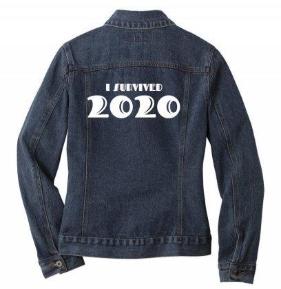 I Survived 2020 Ladies Denim Jacket Designed By Fahmifutri