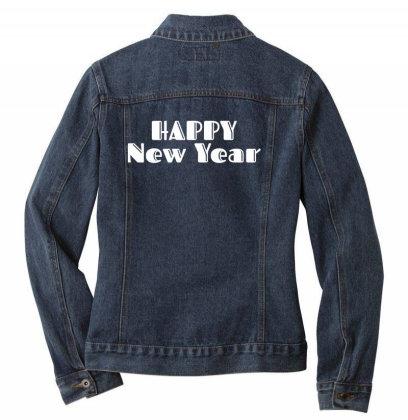 Happy New Year Ladies Denim Jacket Designed By Fahmifutri