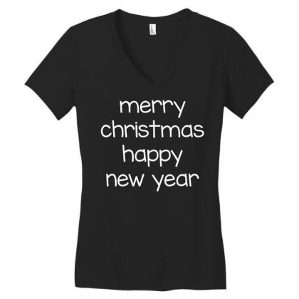 Merry Christmas, Happy New Year, Have A Holly Jolly Women's V-neck T-shirt Designed By Estore