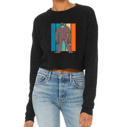 Bigfoot With Face Mask Cropped Sweater Designed By Blackstone