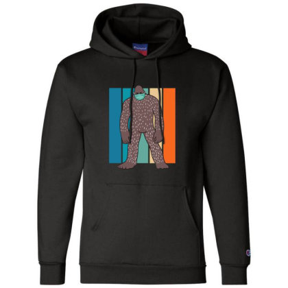 Bigfoot With Face Mask Champion Hoodie Designed By Blackstone
