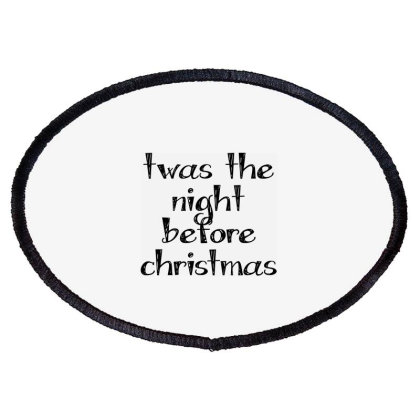 Twas The Night Before Christmas Oval Patch Designed By Estore
