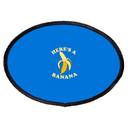Funny Banana Oval Patch Designed By Blackstone