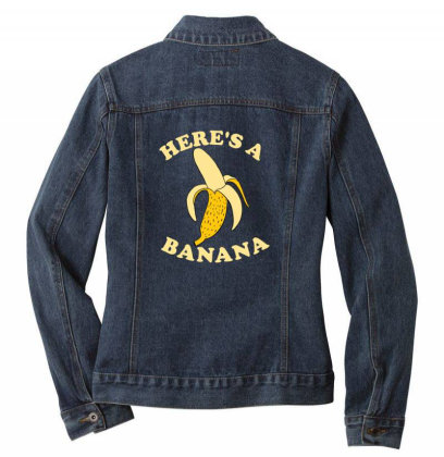 Funny Banana Ladies Denim Jacket Designed By Blackstone