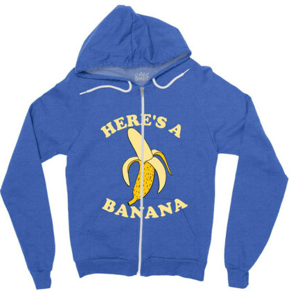 Funny Banana Zipper Hoodie Designed By Blackstone
