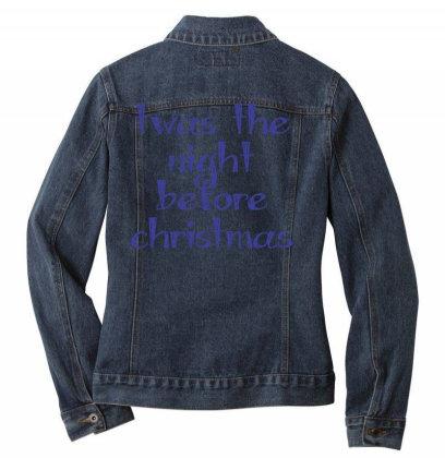 Twas The Night Before Christmas Ladies Denim Jacket Designed By Estore