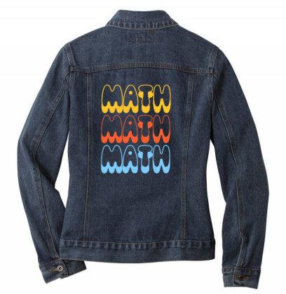 Math Math Math Ladies Denim Jacket Designed By Blackstone