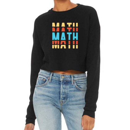 Math Typography Cropped Sweater Designed By Blackstone