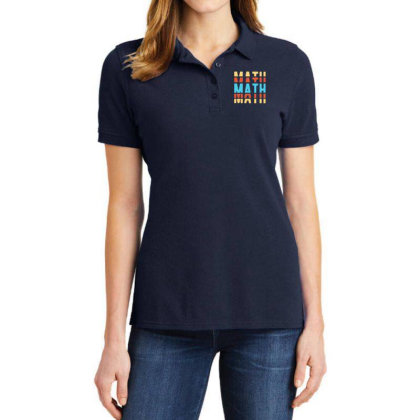 Math Typography Ladies Polo Shirt Designed By Blackstone