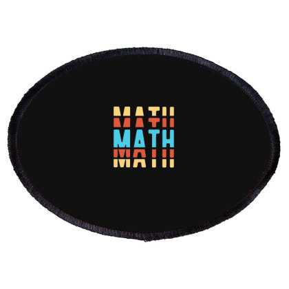 Math Typography Oval Patch Designed By Blackstone