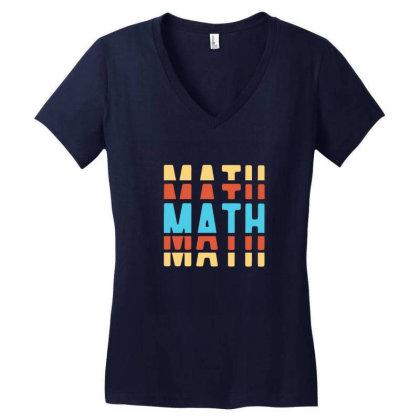 Math Typography Women's V-neck T-shirt Designed By Blackstone
