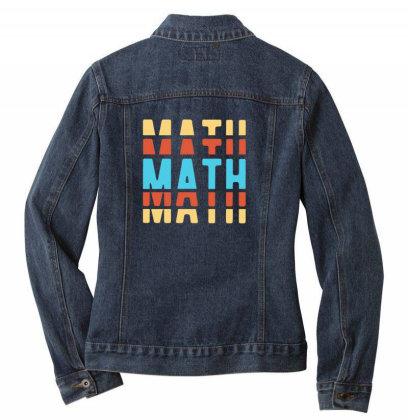 Math Typography Ladies Denim Jacket Designed By Blackstone