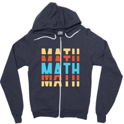 Math Typography Zipper Hoodie Designed By Blackstone