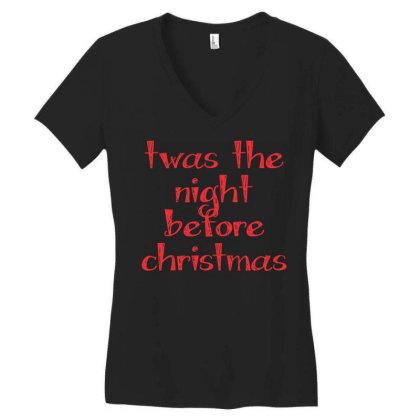 Twas The Night Before Christmas Women's V-neck T-shirt Designed By Estore