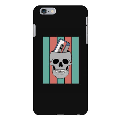Music Tape Skull Iphone 6 Plus/6s Plus Case Designed By Blackstone
