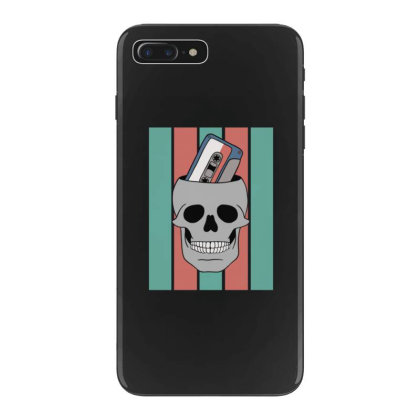Music Tape Skull Iphone 7 Plus Case Designed By Blackstone