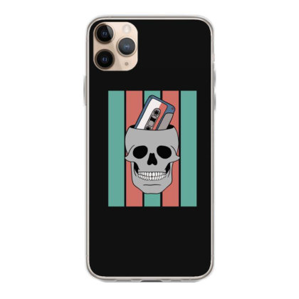 Music Tape Skull Iphone 11 Pro Max Case Designed By Blackstone