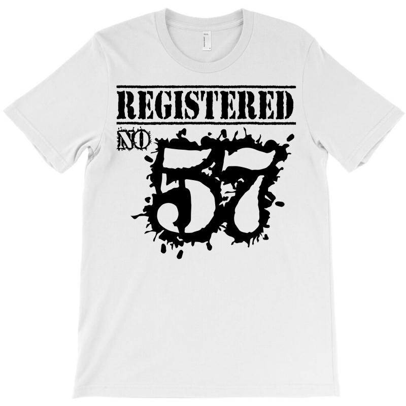 Registered No 57 T-shirt | Artistshot