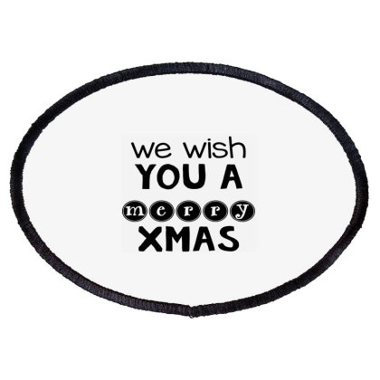 Merry Christmas, Happy New Year, Have A Holly Jolly Oval Patch Designed By Estore
