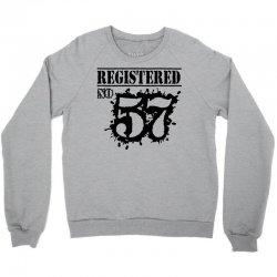 registered no 57 Crewneck Sweatshirt | Artistshot