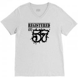registered no 57 V-Neck Tee | Artistshot