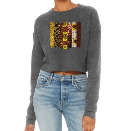 Fall Glitter Brush Strokes Cropped Sweater Designed By Bettercallsaul