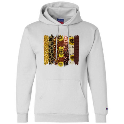 Fall Glitter Brush Strokes Champion Hoodie Designed By Bettercallsaul