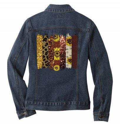 Fall Glitter Brush Strokes Ladies Denim Jacket Designed By Bettercallsaul
