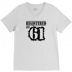 registered no 61 V-Neck Tee | Artistshot