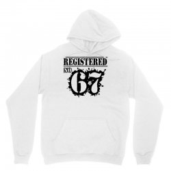 registered no 67 Unisex Hoodie   Artistshot