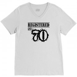 registered no 70 V-Neck Tee | Artistshot