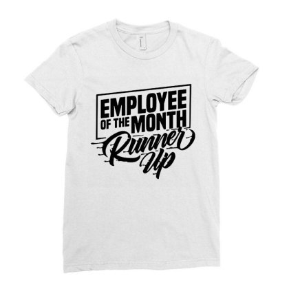 Employee Of The Month Runner Up   Hi Vis Hi Viz Funny Construction Saf Ladies Fitted T-shirt Designed By Wowotees