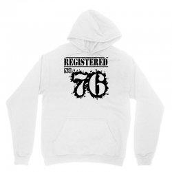 registered no 76 Unisex Hoodie | Artistshot