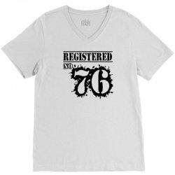 registered no 76 V-Neck Tee | Artistshot
