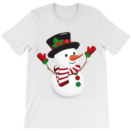 Snowman Cartoon T-shirt Designed By Danz Blackbirdz