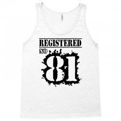 registered no 81 Tank Top   Artistshot