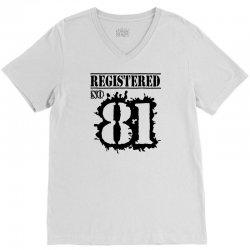 registered no 81 V-Neck Tee   Artistshot