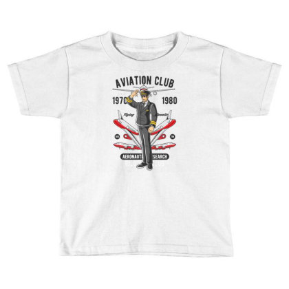 Aviation Club Toddler T-shirt Designed By Dhiart