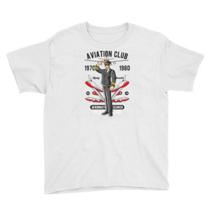 Aviation Club Youth Tee Designed By Dhiart