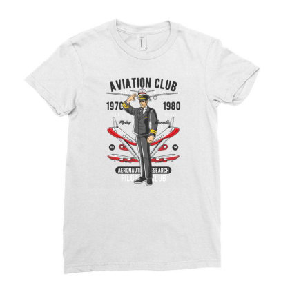 Aviation Club Ladies Fitted T-shirt Designed By Dhiart