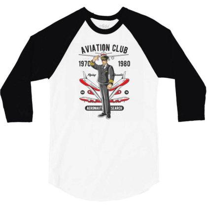 Aviation Club 3/4 Sleeve Shirt Designed By Dhiart