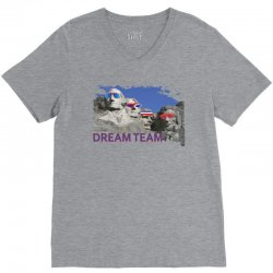 Mount Rushmore Dream Team V-Neck Tee | Artistshot