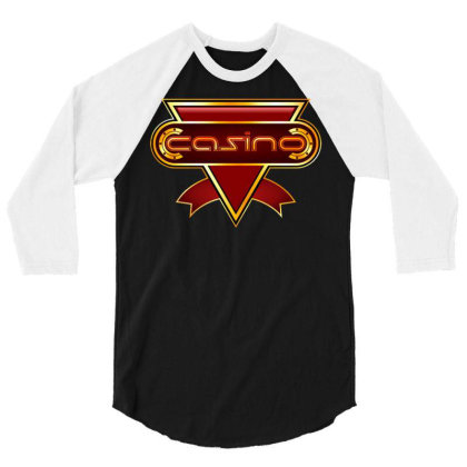 Casino Gold 3/4 Sleeve Shirt Designed By Dhiart