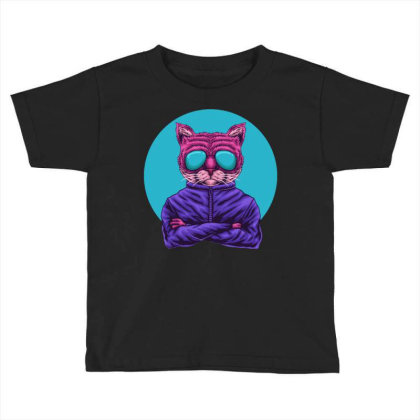Cat Eye Glasses Toddler T-shirt Designed By Dhiart