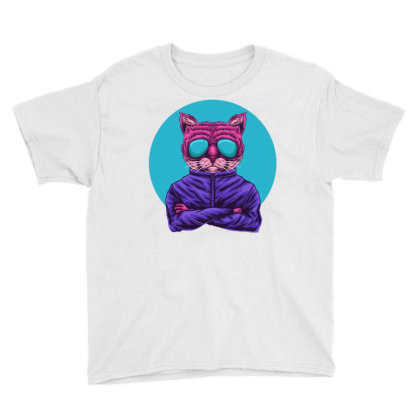 Cat Eye Glasses Youth Tee Designed By Dhiart